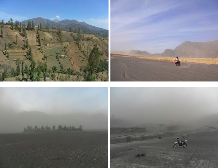 Montage photos du volcan Bromo