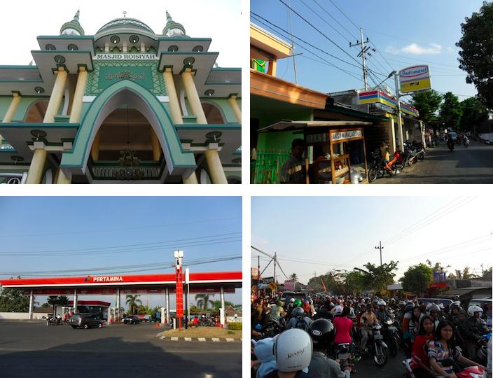 Montage photo de Malang en Indonésie