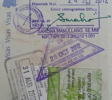 Bali et extension de visa indonésien