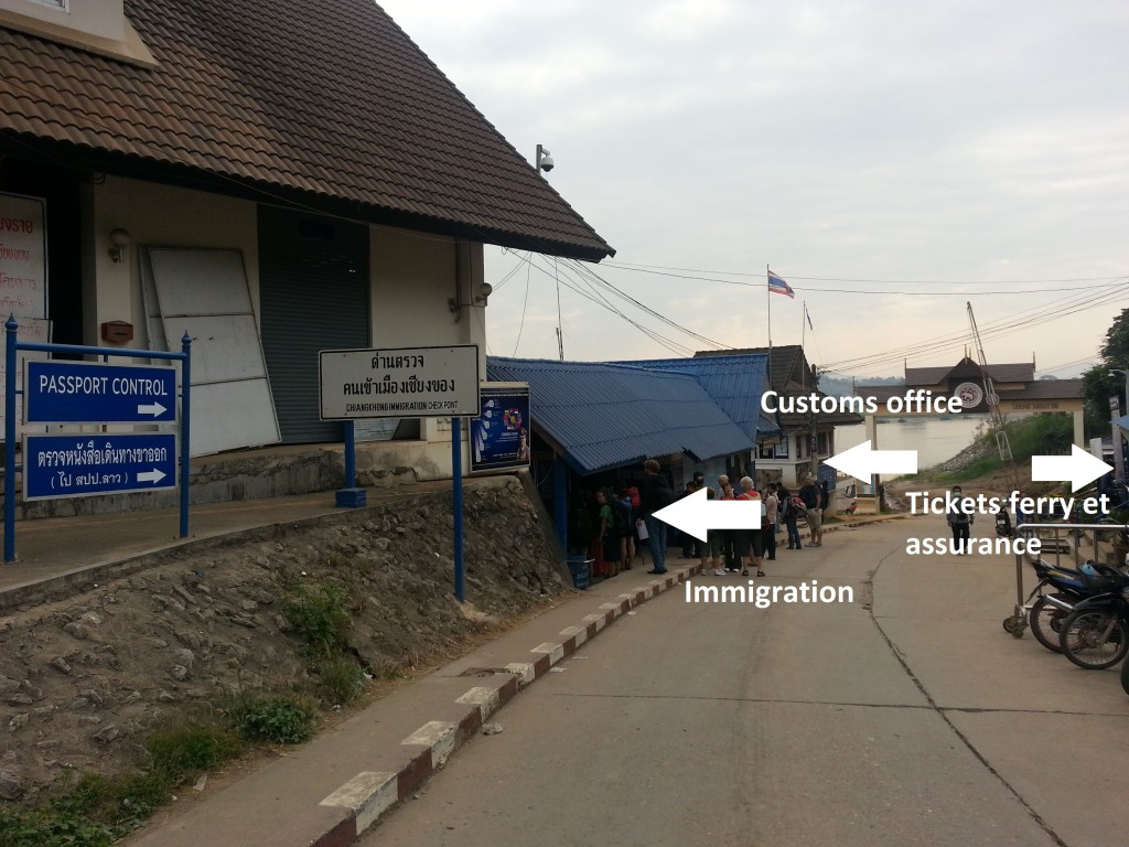 Customs office, immigration, ferry et assurance