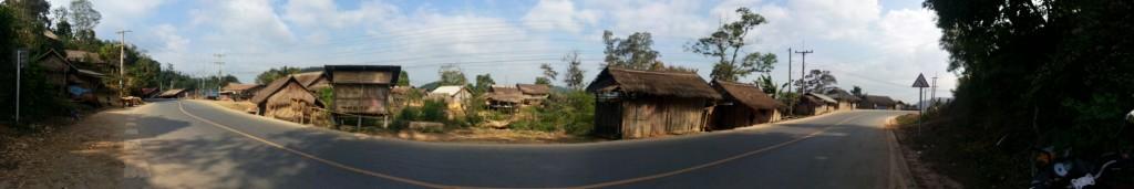 En chemin vers Vang Vieng