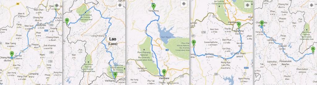 Etapes itinéraire Laos