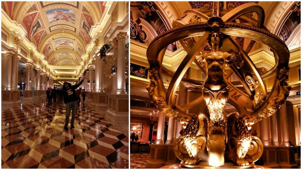 Intérieur tout doré du Venetian à Macao