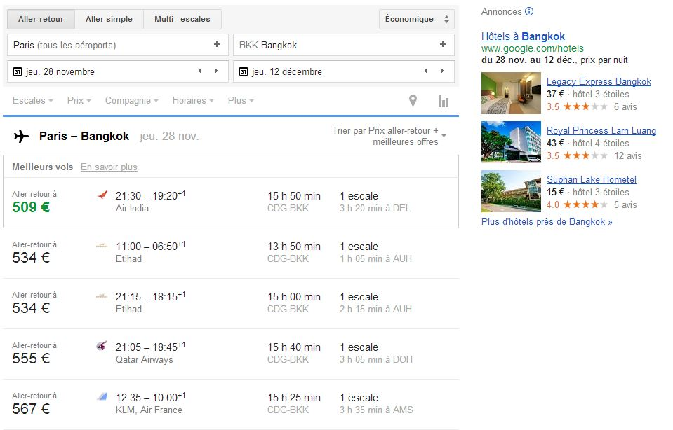 google flights visibilit des voyages le blog de cyn. Black Bedroom Furniture Sets. Home Design Ideas