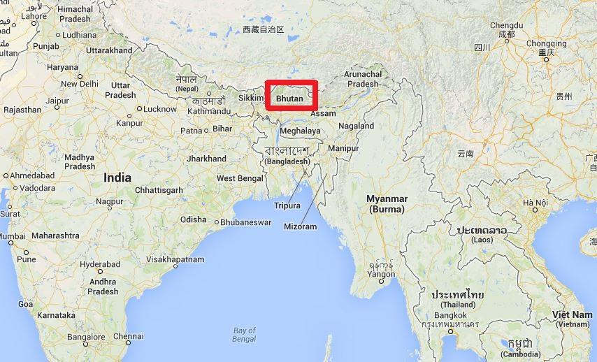 Situation géographique du Bhoutan
