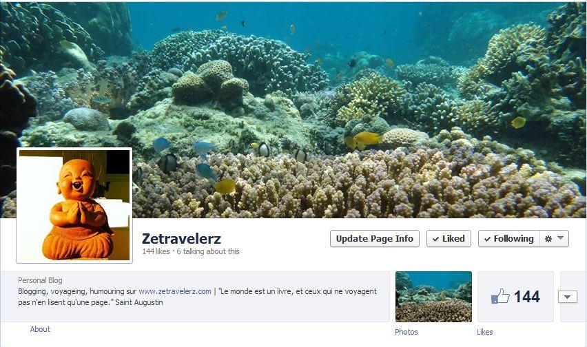 Page Facebook de ZetravelerZ