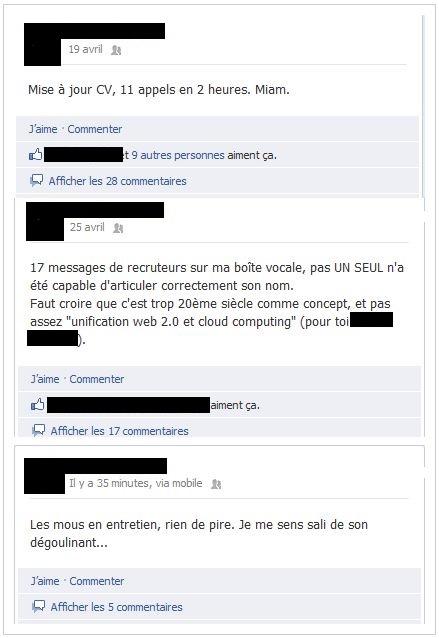 Messages Facebook d'un personal branleur