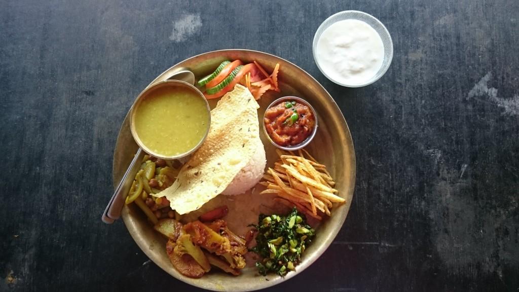 Le délicieux thali dont je parle! :-)