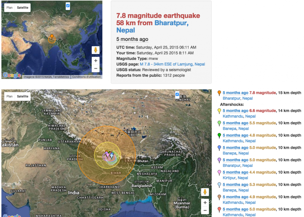 Source: http://earthquaketrack.com/quakes/2015-04-25-06-11-26-utc-7-8-15