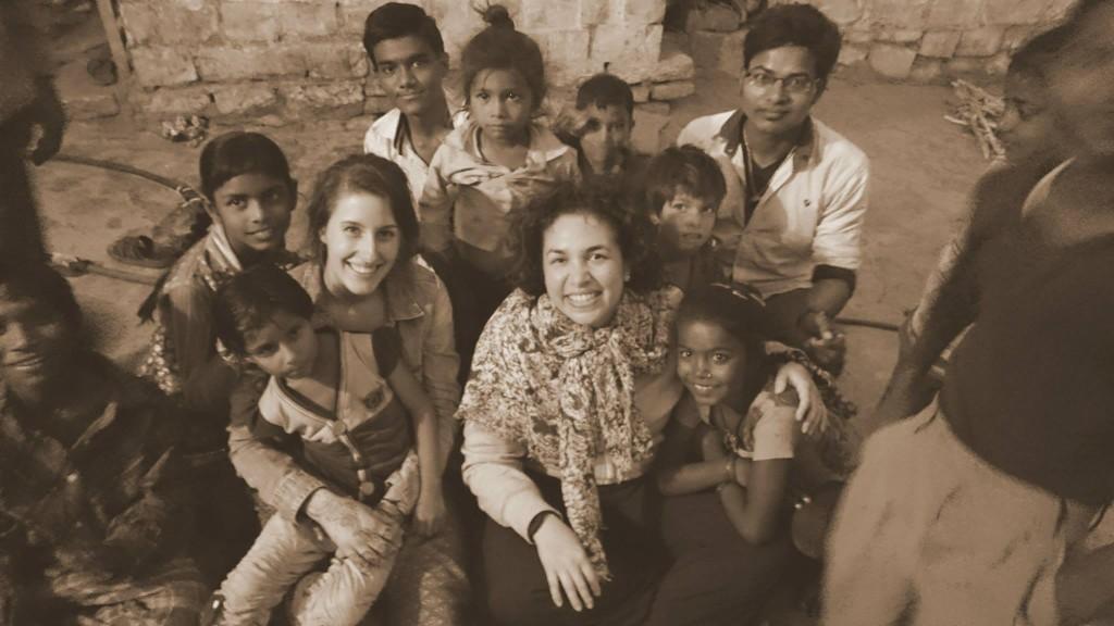 Roxanne et moi chez une famille indienne à Jaisalmer