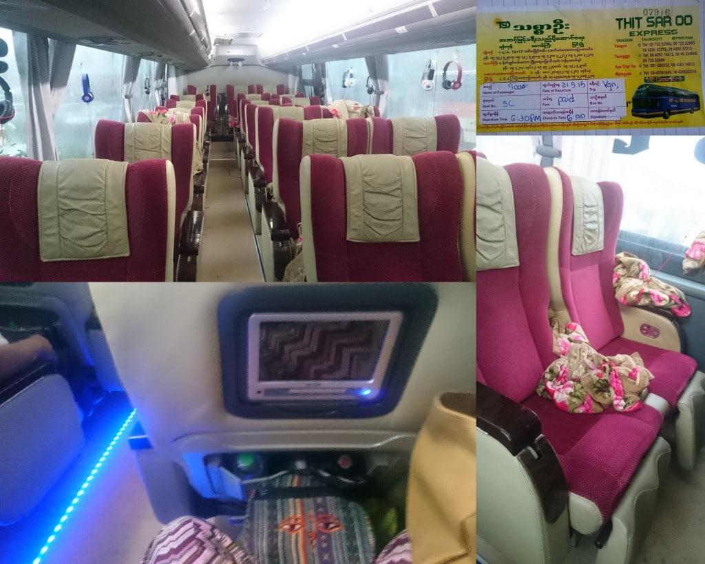 bus de luxe au Myanmar