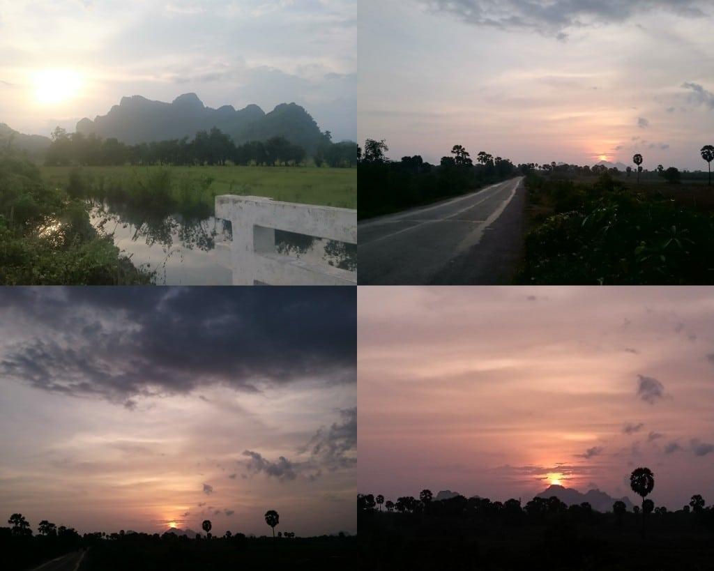 soleil couchant Myanmar