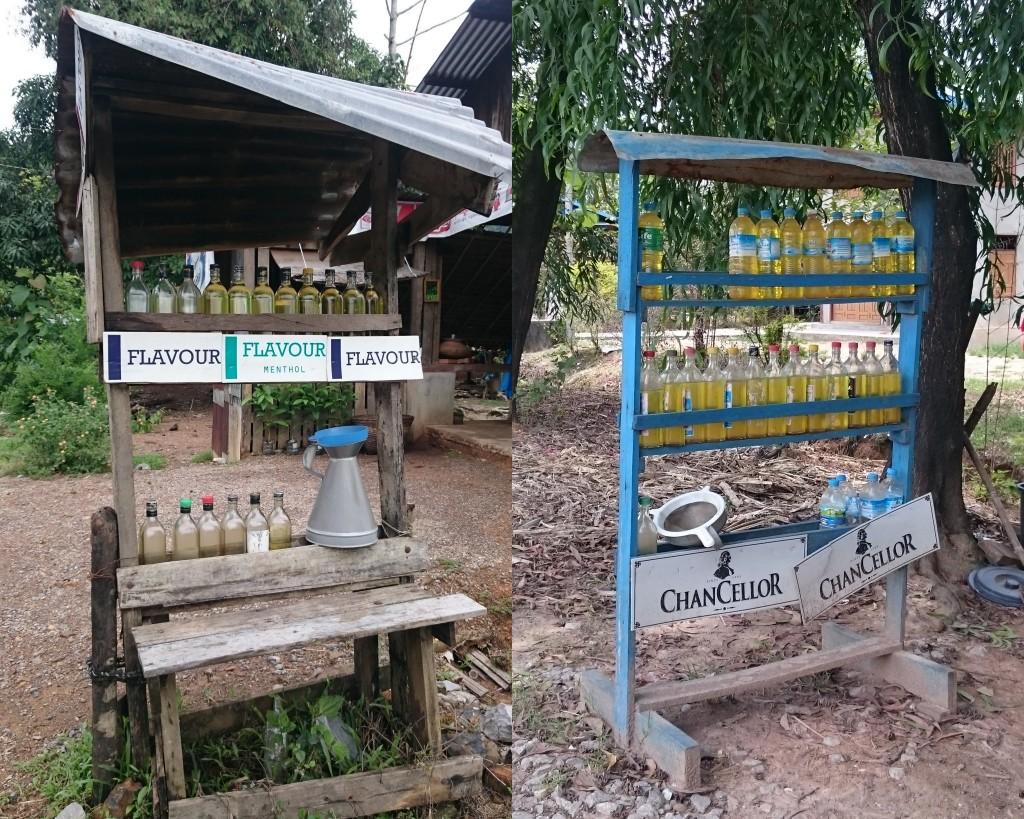 carburant vendu en bouteilles au Myanmar