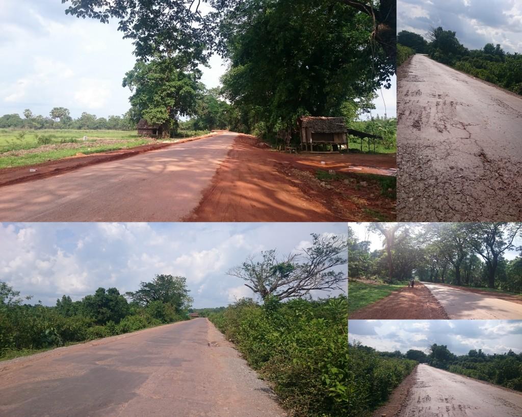 chemins cabossés du Myanmar