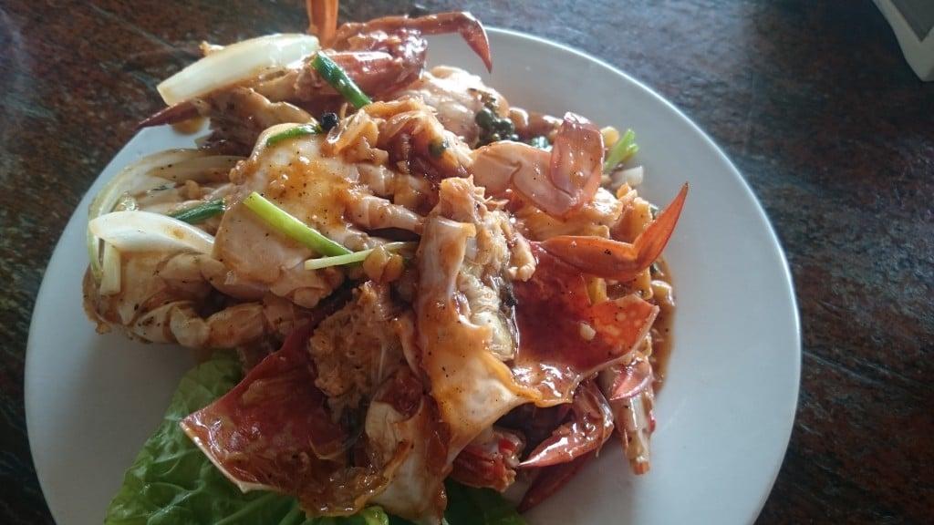 Crabe et sauce au poivre de Kep au Cambodge