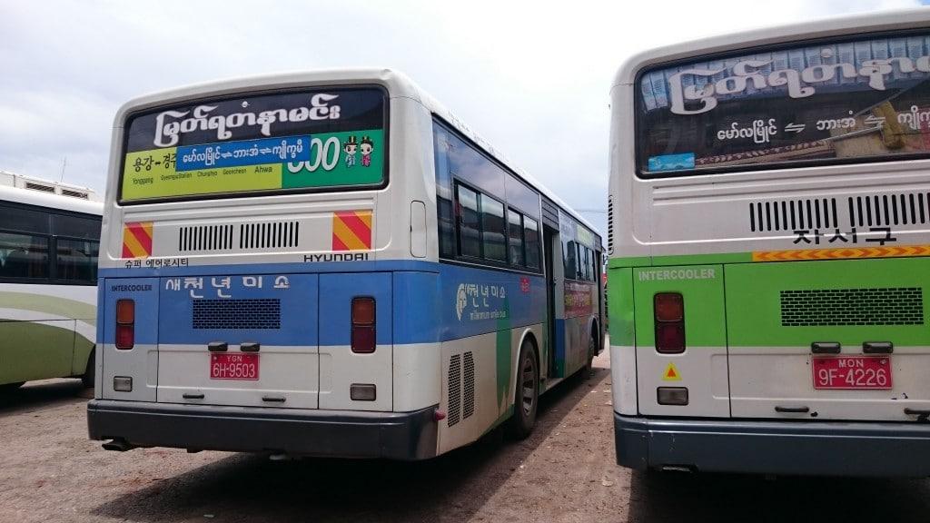 bus birman de Mawlamyine à Hpa An
