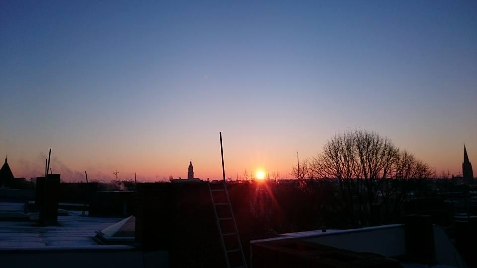 lever de soleil sur les toits de Berlin