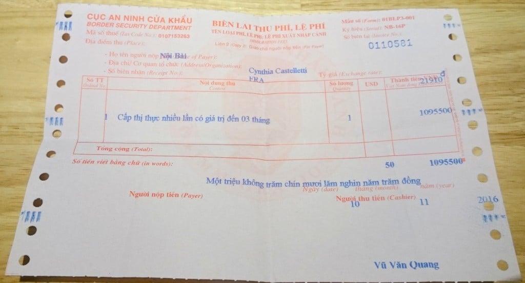 recu-paiement-visa-vietnam
