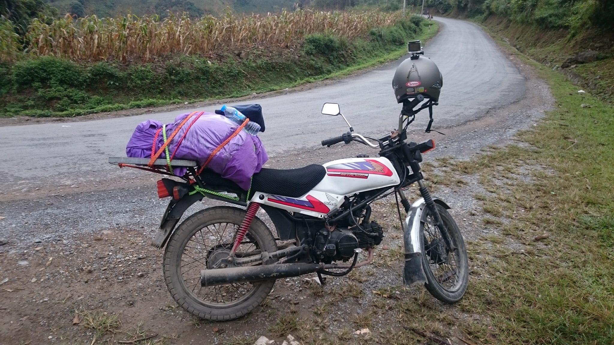 Moto de Cynthia au Vietnam en 2016