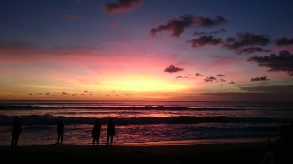 Coucher de soleil Kuta Bali