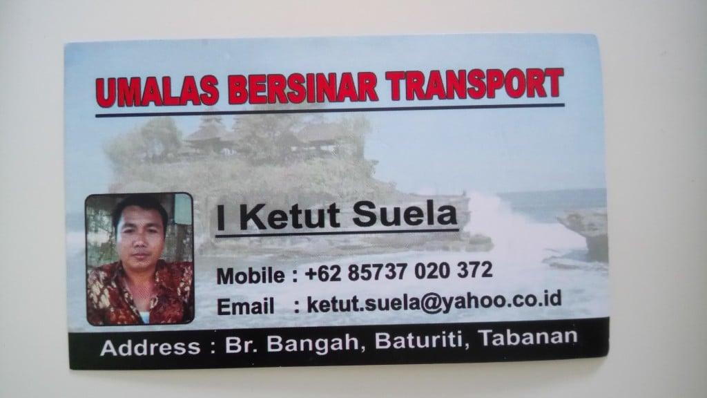 Taxi à Bali